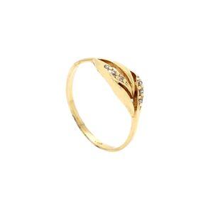 Zlatý prsteň DABRIA so zirkónmi