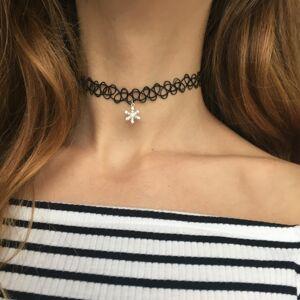 OLIVIE Choker náhrdelník SNEHOVÁ VLOČKA 0075 Ag 925; ≤0,65 g.