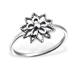 OLIVIE Strieborný prsteň FLOWER 0142 Veľkosť prsteňov: 6 (EU: 51 - 53) Ag 925, 1,5 g.