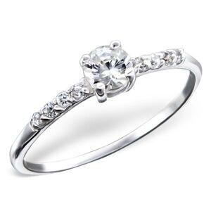 OLIVIE Strieborný zásnubný prsteň 0207 Veľkosť prsteňov: 8 (EU: 57 - 58) Ag 925, 1 g.