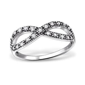OLIVIE Strieborný prsteň NEKONEČNO 0229 Veľkosť prsteňov: 7 (EU: 54 - 56) Ag 925, 1,75 g.