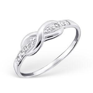 OLIVIE Strieborný prsteň NEKONEČNO 0673 Veľkosť prsteňov: 6 (EU: 51 - 53) Ag 925; ≤1,05 g.