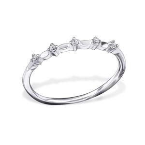 OLIVIE Strieborný prsteň so zirkónmi 0679 Veľkosť prsteňov: 7 (EU: 54 - 56) Ag 925; ≤0,75 g.
