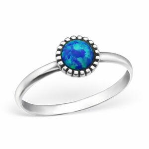 OLIVIE Strieborný prsteň OPAL BLUE 0949 Veľkosť prsteňov: 8 (EU: 57 - 58) Ag 925; ≤1,25 g.