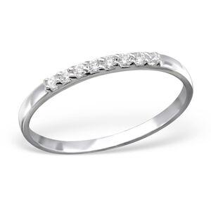 OLIVIE Strieborný prsteň s kubickými zirkónmi 0954 Veľkosť prsteňov: 6 (EU: 51 - 53) Ag 925; ≤0,7 g.