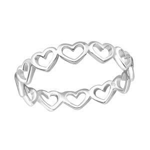 OLIVIE Strieborný srdiečkový prsteň 1196 Veľkosť prsteňov: 7 (EU: 54 - 56) Ag 925; ≤0,85 g.