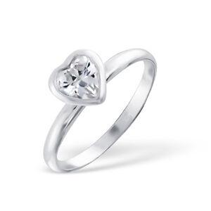 OLIVIE Strieborný prsteň SRDCE 1204 Veľkosť prsteňov: 6 (EU: 51 - 53) Ag 925; ≤1,6 g.