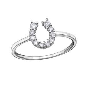 OLIVIE Strieborný prsteň PODKOVA 1238 Veľkosť prsteňov: 7 (EU: 54 - 56) Ag 925; ≤1,45 g.