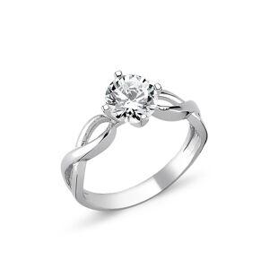OLIVIE Strieborný solitérny prsteň so zirkónom 1264 Veľkosť prsteňov: 9 (EU: 59 - 61) Ag 925; ≤2,7 g.
