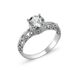OLIVIE Strieborný prsteň OLIVIE s kubickým zirkónom 1272 Veľkosť prsteňov: 5 1/4 (EU: 50) Ag 925; ≤2,4 g.
