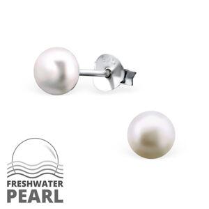 OLIVIE Strieborné náušnice s perlou 1302 Ag 925; ≤0,55 g.