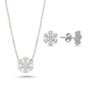 OLIVIE Sada strieborných šperkov SNEHOVÁ VLOČKA 1393 Ag 925; ≤2,50 g.