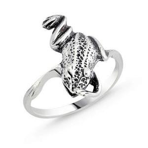 OLIVIE Strieborný prsteň ŽABA 1576 Veľkosť prsteňov: 7 (EU: 54 - 56) Ag 925; ≤2,50 g.