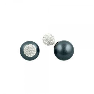 OLIVIE Strieborné dvojité náušnice s perlami a zirkónmi 1696 Ag 925; ≤2,1 g.