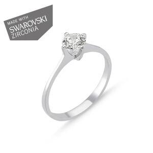 OLIVIE Strieborný zásnubný prsteň GRETA 1729 Veľkosť prsteňov: 7 (EU: 54 - 56) Ag 925; ≤1,4 g.