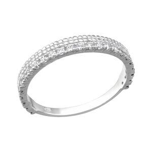 OLIVIE Strieborný prsteň so zirkónmi 1803 Veľkosť prsteňov: 5 (EU: 47 - 50) Ag 925; ≤1,4 g.