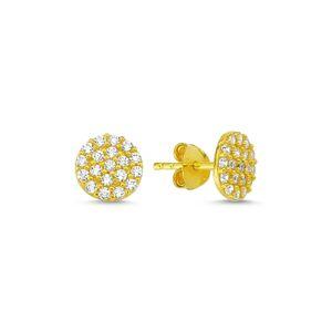 OLIVIE Strieborné náušnice GOLD so zirkónmi 1877 Ag 925; ≤1,05 g.