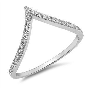 OLIVIE Strieborný prsteň ŠÍPKA so zirkónmi 1927 Veľkosť prsteňov: 5 (EU: 47 - 50) Ag 925; ≤1,16 g.