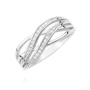 OLIVIE Strieborný prsteň so zirkónmi 2195 Veľkosť prsteňov: 6 (EU: 51 - 53) Ag 925; ≤2,9 g.
