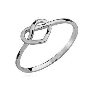 OLIVIE Strieborný prsteň NEKONEČNÉ SRDCE 2202 Veľkosť prsteňov: 8 (EU: 57 - 58) Ag 925; ≤1 g.