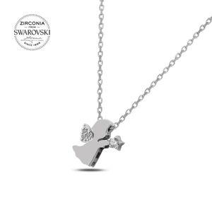 OLIVIE Strieborný náhrdelník ANJEL sa Swarovski kryštálmi 2327 Ag 925; ≤2,19 g.