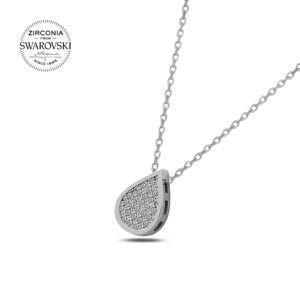 OLIVIE Strieborný náhrdelník KVAPKA so Swarovski kryštálmi 2328 Ag 925; ≤1,93 g.