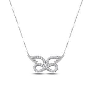OLIVIE Strieborný náhrdelník NEKONEČNO S KRÍDLAMI 2330 Ag 925; ≤2,60 g.