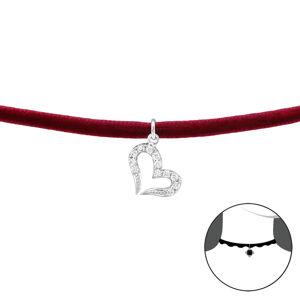 OLIVIE Choker náhrdelník SRDCE so zirkónmi 2488 Ag 925; ≤0,95 g.