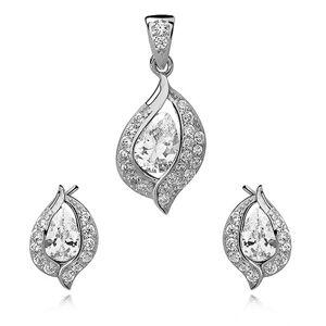 OLIVIE Sada strieborných šperkov so zirkónmi 2671 Ag 925; ≤3,1 g.