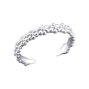 OLIVIE Strieborný kvetinový prsteň na nohu 2753 Ag 925; ≤0,85 g.