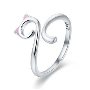 OLIVIE Strieborný prsteň MAČKA 2910 Ag 925; ≤1,6 g.