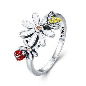 OLIVIE Strieborný prsteň LETNÁ ZÁHRADA 2958 Veľkosť prsteňov: 8 (EU: 57 - 58) Ag 925; ≤2,7 g.