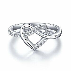 OLIVIE Strieborný prstienok NEKONEČNÉ SRDCE 2962 Veľkosť prsteňov: 6 (EU: 51 - 53) Ag 925; ≤2 g.