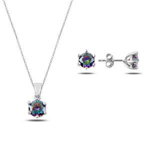 OLIVIE Sada strieborných šperkov MYSTICKÝ TOPAZ 3174 Ag 925; ≤4,1 g.