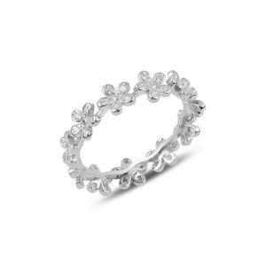 OLIVIE Strieborný kvetinový prsteň 3191 Veľkosť prsteňov: 9 (EU: 59 - 61) Ag 925; ≤2 g.