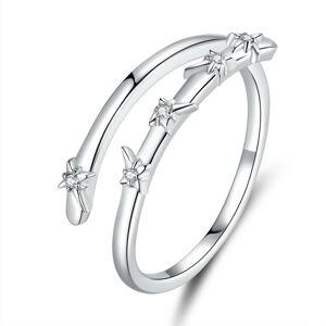 OLIVIE Nastaviteľný strieborný prsteň HVIEZDY 3388 Ag 925; ≤1,8 g.
