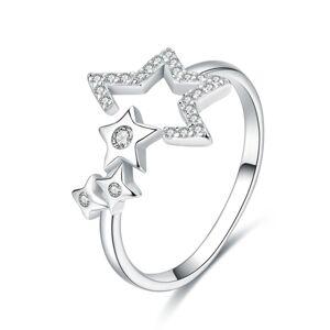 OLIVIE Nastaviteľný strieborný prsteň HVIEZDY 3390 Ag 925; ≤1,7 g.