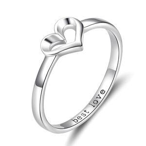 OLIVIE Strieborný prsteň BEST LOVE 3393 Veľkosť prsteňov: 8 (EU: 57 - 58) Ag 925; ≤1,3 g.