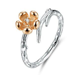 OLIVIE Strieborný prsteň MEDENÁ RUŽE 3444 Veľkosť prsteňov: 6 (EU: 51 - 53) Ag 925; ≤2,3 g.