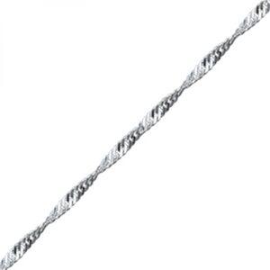 OLIVIE Strieborná retiazka 60 cm TWIST 3534 Ag 925; ≤2,8 g.