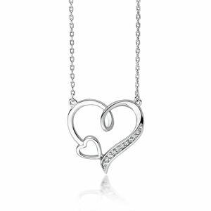 OLIVIE Strieborný náhrdelník SRDCE V SRDCI 3575 Ag 925; ≤2,9 g.