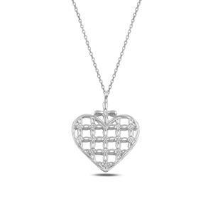 OLIVIE Strieborný náhrdelník SRDCE 3698 Ag 925; ≤2,2 g.