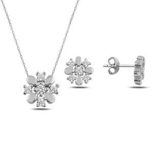 OLIVIE Kvetinová sada strieborných šperkov 3703 Ag 925; ≤2,9 g.