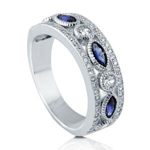 OLIVIE Strieborný prsteň MODRÉ TAJOMSTVO 3772 Veľkosť prsteňov: 10 (EU: 62 - 64) Ag 925; ≤4,6 g.