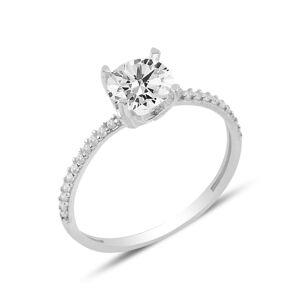 OLIVIE Strieborný prsteň so zirkónom 3900 Veľkosť prsteňov: 8 (EU: 57 - 58) Ag 925; ≤1,3 g.
