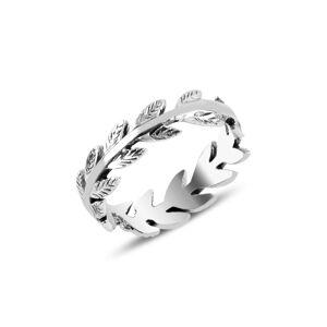 OLIVIE Strieborný prsteň LÍSTKY Z RUŽÍ 3912 Veľkosť prsteňov: 9 (EU: 59 - 61) Ag 925; ≤2,2 g.