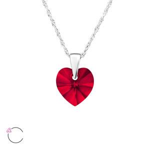 OLIVIE Strieborný náhrdelník SRDCE Swarovski 3989 Ag 925; ≤1,5 g