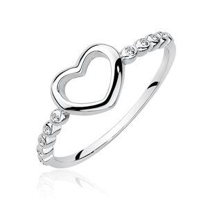 OLIVIE Stieborný prsteň SRDCE 4210/8 Velikost prstenů: 8 (EU: 57 - 58) Ag 925; ≤1,2 g.