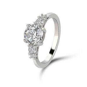 OLIVIE Strieborný prsteň VYZNANIE LÁSKY 4234 Veľkosť prsteňov: 9 (EU: 59 - 61) Ag 925; ≤2,6 g.