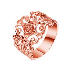 OLIVIE FILIGRÁN strieborný prsteň 4300 Velikost prstenů: 6 (EU: 51 - 53), Farba: Ružová Ag 925; ≤3,4 g.